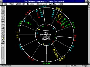 EA Horoscope screen shot - natal chart
